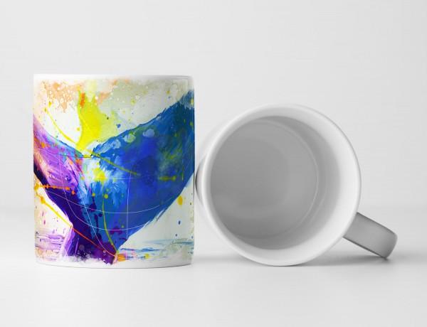 Wal Tasse als Geschenk, Design Sinus Art