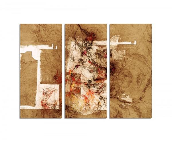 130x90cm Wandbild Abstrakt166 -3x90x40cm