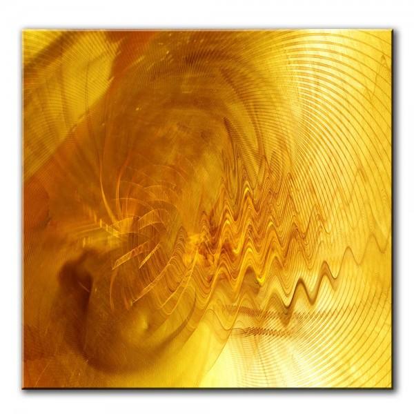 Goldener Zauber, abstrakt, 60x60cm