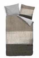Abstrakt Braun Beige Kunst Bettwäsche Set 135x200 cm + 80x80cm  Atmungsaktiv
