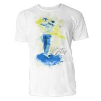 Golfer von hinten Sinus Art ® T-Shirt Crewneck Tee with Frontartwork