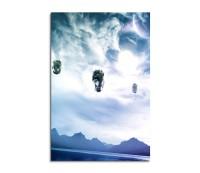 Floating Rocks Fantasy Art 90x60cm