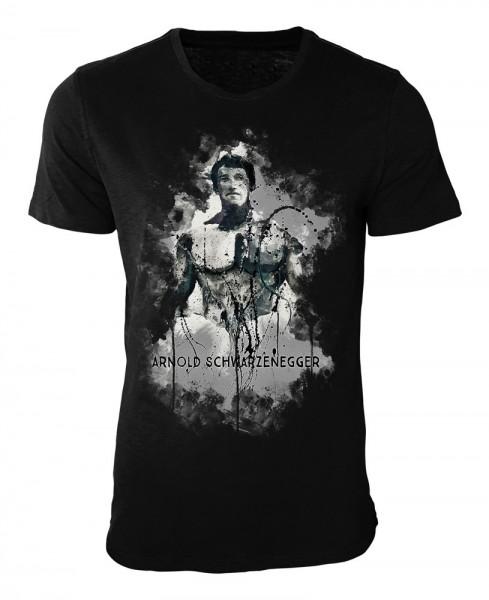 Arnold Schwarzenegger Damen und Herren T-Shirt schwarz / black