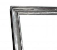 Industrial Chic Rahmenleiste schmal in Silber leichte Patinierung
