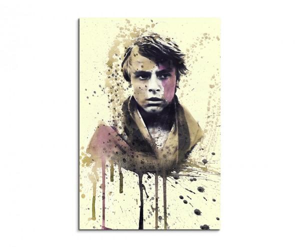 Star Wars Luke Skywalker 90x60cm  Aquarell Art Leinwandbild