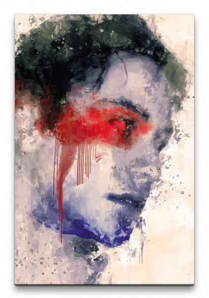 Keanu Reeves Porträt Abstrakt Kunst Schauspieler 60x90cm Leinwandbild