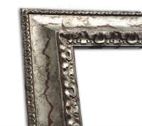 Exklusiver Echtholzrahmen Antik silber in rustikaler Optik