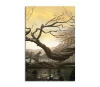 Spooky Swamp Fantasy Art 90x60cm