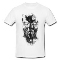 Z 800 Terminator Genisys Herren und Damen T-Shirt BLACK-WHITE