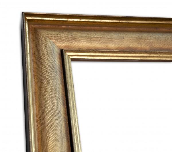 Industrial Chic Rahmenleiste geprägte Oberfläche in Gold