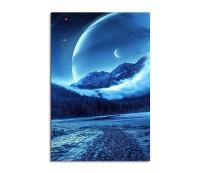 Ice Cold Planets Fantasy Art 90x60cm