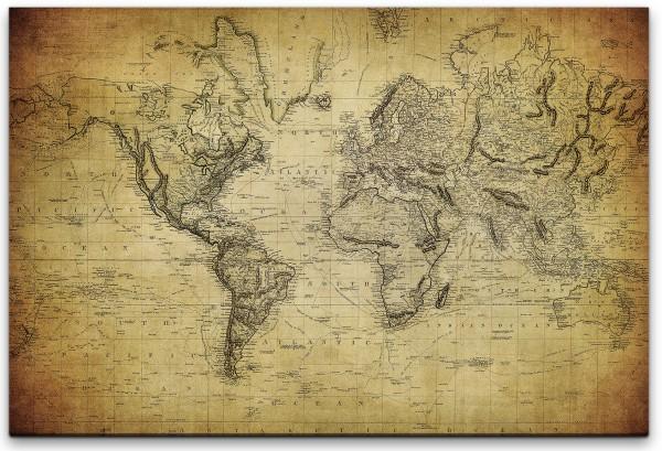 Vintage Landkarte Wandbild in verschiedenen Größen