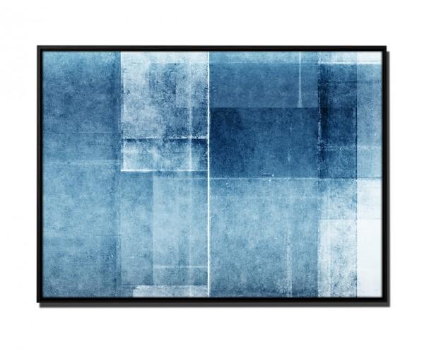 105x75cm Leinwandbild Petrol Abstrakt Flickenmuster II