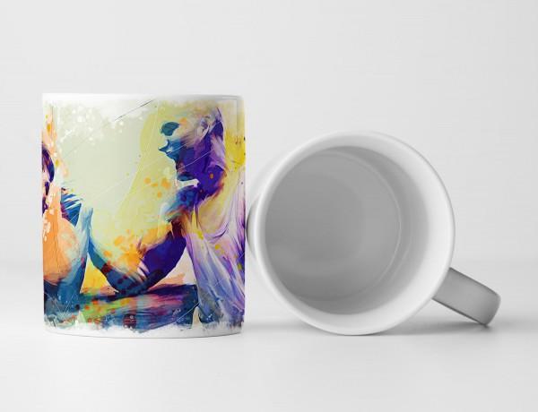 Armdruecken Tasse als Geschenk, Design Sinus Art