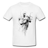 Zindine-Zidane-II Herren und Damen T-Shirt BLACK-WHITE
