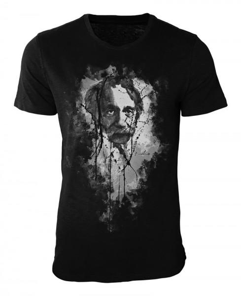 Albert Einstein Damen und Herren T-Shirt schwarz / black