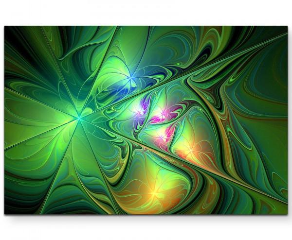 Abstraktes Bild – Batik-Optik - Leinwandbild