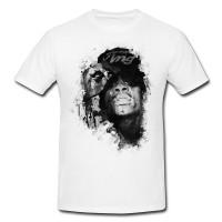 Wiz Khalifa Herren und Damen T-Shirt BLACK-WHITE