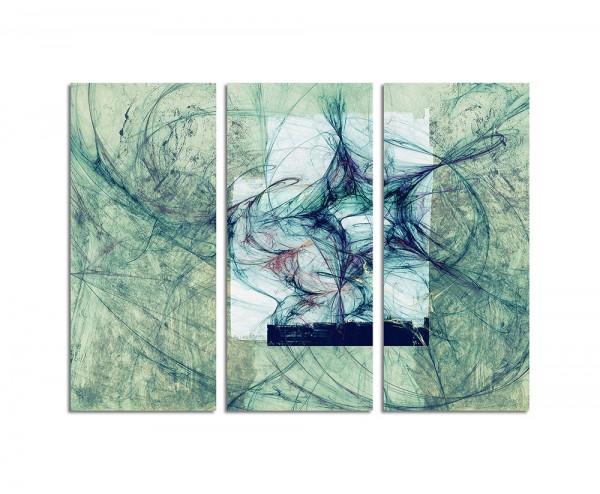 130x90cm Wandbild Abstrakt163 -3x90x40cm