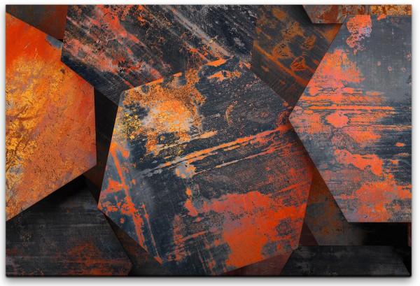 Metall 3D Texturen Wandbild in verschiedenen Größen