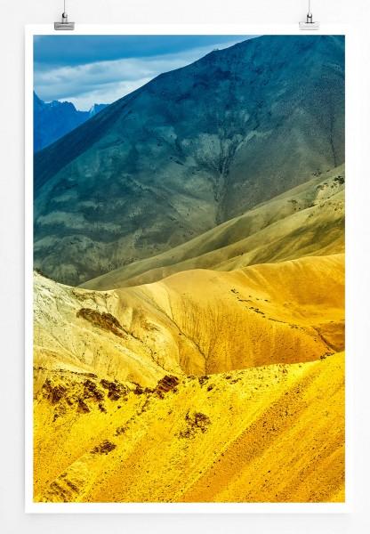 Bunte Berglandschaft Indien 60x90cm Poster