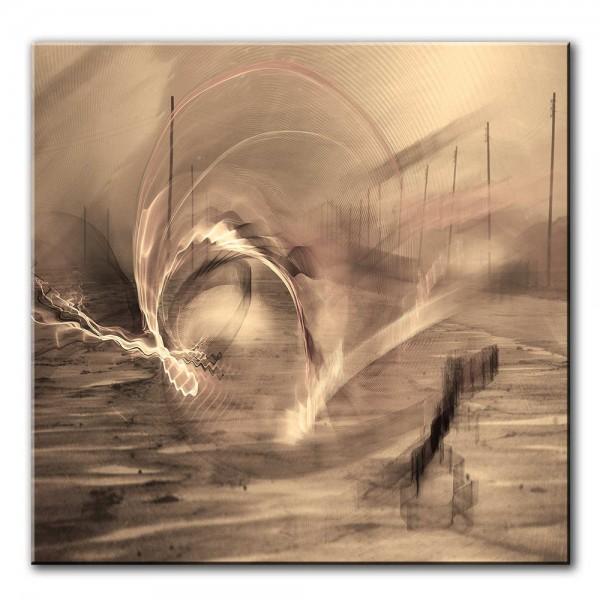 Nordwind, abstrakt, 60x60cm
