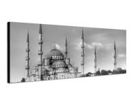150x50cm Moschee Bäume Wolkenhimmel