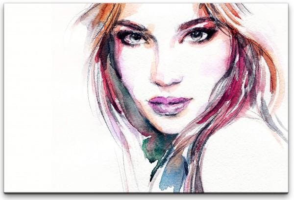 Frauen Portrait Wandbild in verschiedenen Größen