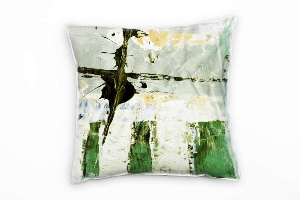 Couch Sofa Lounge Zierkissen in 40x40cm Pastelltürkis Maigrün dunkles Olivgrün