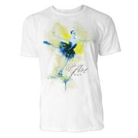 Eiskunstläuferin  Sinus Art ® T-Shirt Crewneck Tee with Frontartwork