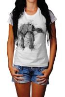 AT AT Herren und Damen T-Shirt BLACK-WHITE