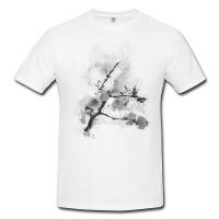 Zweig Herren und Damen T-Shirt BLACK-WHITE