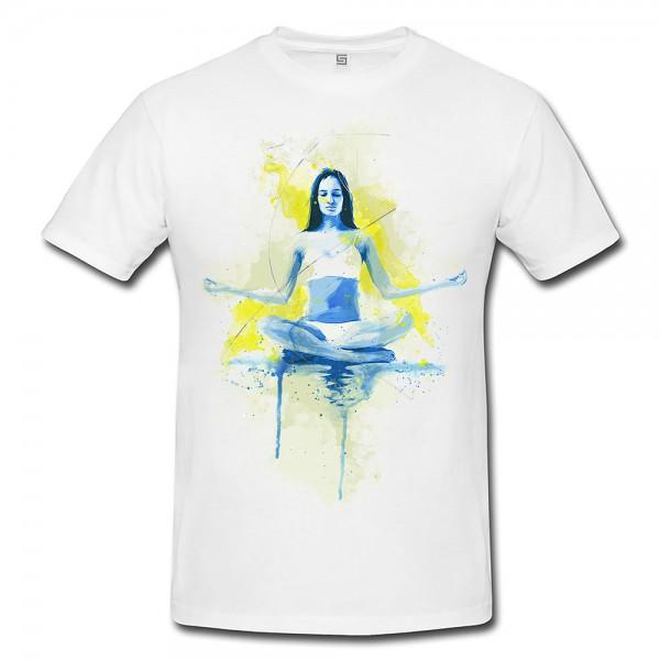 Yoga Premium Herren und Damen T-Shirt Motiv aus Paul Sinus Aquarell