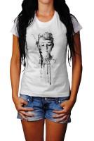 Audrey-Hepburn-II Herren und Damen T-Shirt BLACK-WHITE