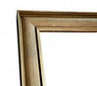 Industrial Chic schmal Rahmenleiste geprägte Oberfläche Gold