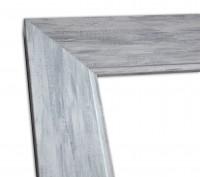 Moderne Shabby Chic Rahmenleiste in Grau