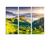 130x90cm Berge Dämmerung blaue Stunde Karpaten