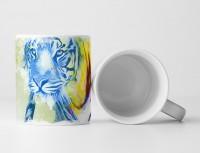 Tiger Tasse als Geschenk,  Design Sinus Art