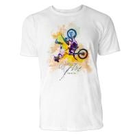 Motocross Salto Sinus Art ® T-Shirt Crewneck Tee with Frontartwork
