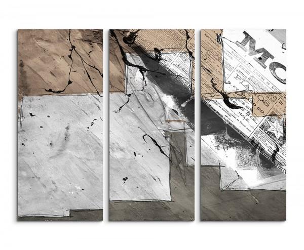 130x90cm Wandbild Abstrakt 504 -3x90x40cm