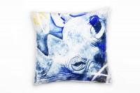 Rhino Deko Kissen Bezug 40x40cm für Couch Sofa Lounge Zierkissen
