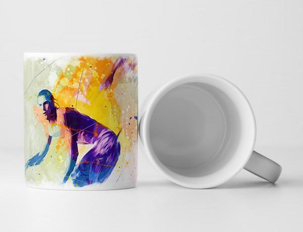 Surfer Tasse als Geschenk, Design Sinus Art
