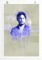 Californication 90x60cm Paul Sinus Art Splash Art Wandbild als Poster ohne Rahmen gerollt