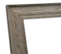 Echtholzrahmen Natur in grau lasiert mit sichtbarer Holzmaserung