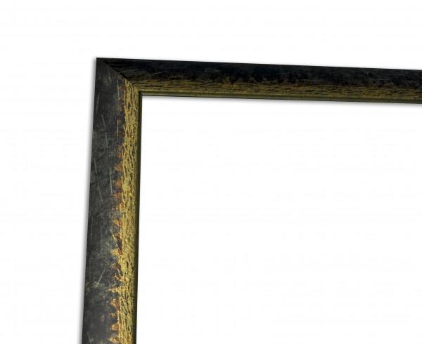 Bilderleiste Modern in Dunkelgrün Gold Echtholzrahmen