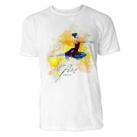 Ballerina im Flug Sinus Art ® T-Shirt Crewneck Tee with Frontartwork
