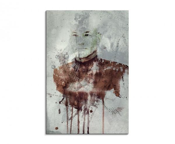 Jean Luc Picard II 90x60cm  Aquarell Art Leinwandbild