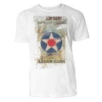 Join the Air Service Herren T-Shirts in Karibik blau Cooles Fun Shirt mit tollen Aufdruck