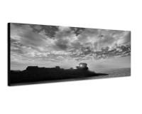 150x50cm Balearen Menorca Meer Wolken Abendsonne