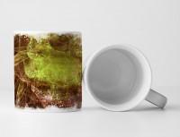 Tasse Geschenk Naturtöne, wirres Muster